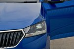 Skoda Fabia headlight detail