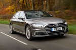 Audi A8 2019 front right tracking shot