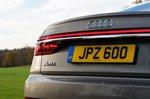 Audi A8 2019 rear lamps detail