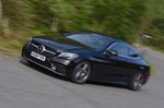 Mercedes-Benz C-Class Coupe 2019 Front left tracking shot