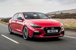 Hyundai I30N Fastback 2019 front right tracking shot