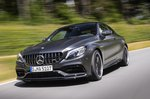 Mercedes-AMG C63 Coupé front three-quarters driving