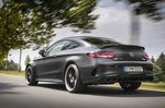 Mercedes-AMG C63 Coupé rear three-quarters driving