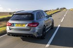 Mercedes-AMG C63 Estate rear three-quarter driving