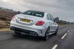 Mercedes-AMG C63 Saloon rear three-quarter driving
