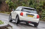 Mini Cooper 3dr 2019 rear cornering tracking shot
