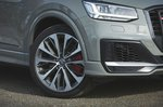 Audi SQ2 2019 front headlamp detail