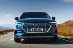 Audi E-tron 2019 UK front-on tracking