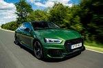 Audi RS5 Sportback 2019 high front tracking shot