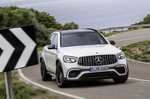 Mercedes-AMG GLC 63 Facelift 2019 front cornering shot