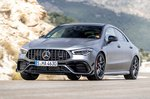 Mercedes-AMG CLA 45 S 2019 launch front left cornering