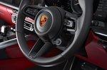 Porsche 911 Cabriolet 2019 UK RHD steering wheel detail