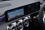 Mercedes A Class Saloon 2019 RHD centre console detail
