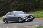 Mercedes-Benz 2019 E-Class saloon front right tracking