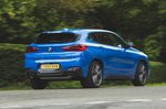 BMW X2 M35i 2019 RHD rear right cornering