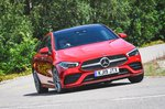 Mercedes CLA driving