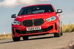 BMW M135i xDrive 2019 front head-on cornering