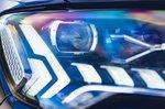 Audi SQ7 2019 RHD front headlight detail