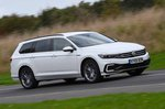 Volkswagen Passat Estate GTE 2021 front wide tracking shot