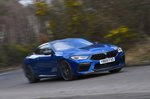 BMW M8 Competition 2020 RHD front right cornering
