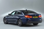 BMW 5 Series Saloon 2019 rear left static studio RHD