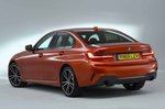 BMW 3 Series Saloon 2019 rear left studio RHD