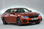 BMW 3 Series Saloon 2019 static front right studio RHD