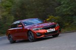 BMW 3 Series Saloon 2021 wide front tracking shot RHD