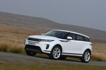 2019 Land Rover Range Rover Evoque front left tracking wide RHD