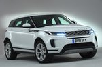 2019 Land Rover Range Rover Evoque static front left RHD