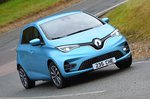 2019 Renault Zoe UK front right tracking LHD