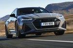 Audi RS6 Avant 2020 RHD press front tracking