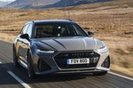 Audi RS6 Avant 2020 RHD press front high tracking