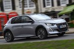 Peugeot e-208 2020 RHD wide front right tracking