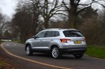 Skoda Karoq 2020 RHD left wide rear tracking