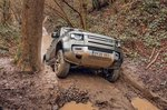 Land Rover Defender 2020 RHD uphill muddy scramble