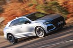 Audi RS Q8 blurred front cornering