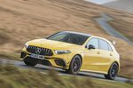 Mercedes A45 AMG 2020 RHD wide front tracking
