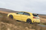 Mercedes A45 AMG 2020 RHD wide left panning