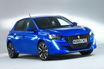 Peugeot 208 front studio - blue 69-plate car