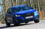 Audi Q2 front cornering - blue 19-plate car