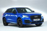 Audi Q2 front studio - blue 19-plate car