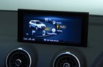 Audi Q2 infotainment screen - blue 19-plate car