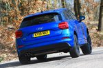 Audi Q2 rear cornering - blue 19-plate car