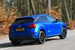 Audi Q2 rear panning - blue 19-plate car