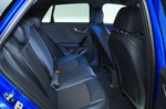 Audi Q2 rear seats - blue 19-plate car