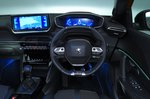 Peugeot 2008 dashboard - orange 69-plate car