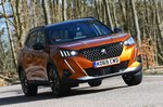 Peugeot 2008 front cornering - orange 69-plate car
