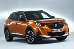 Peugeot 2008 front studio - orange 69-plate car
