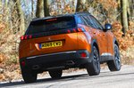 Peugeot 2008 rear cornering - orange 69-plate car